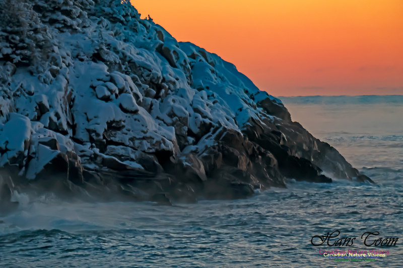 Sunrise and Snow at Herring Cove 111