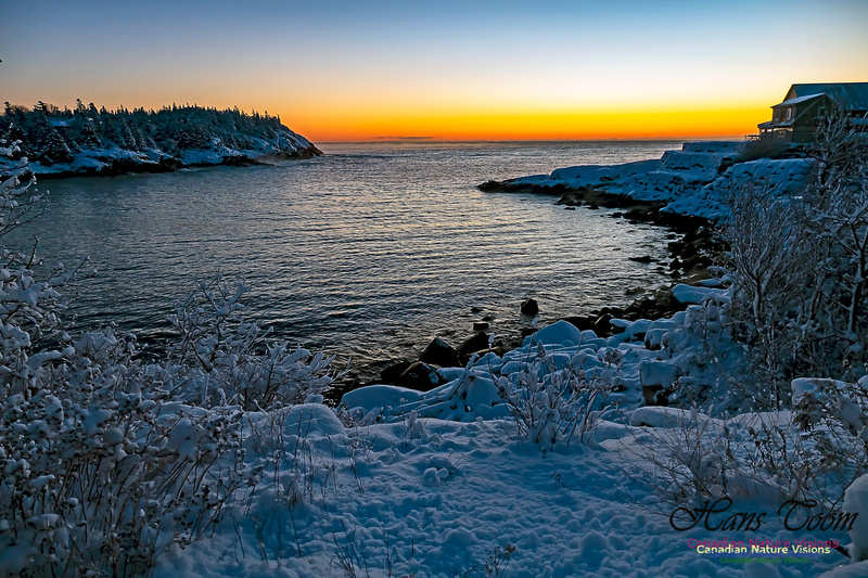 Sunrise and Snow at Herring Cove 114