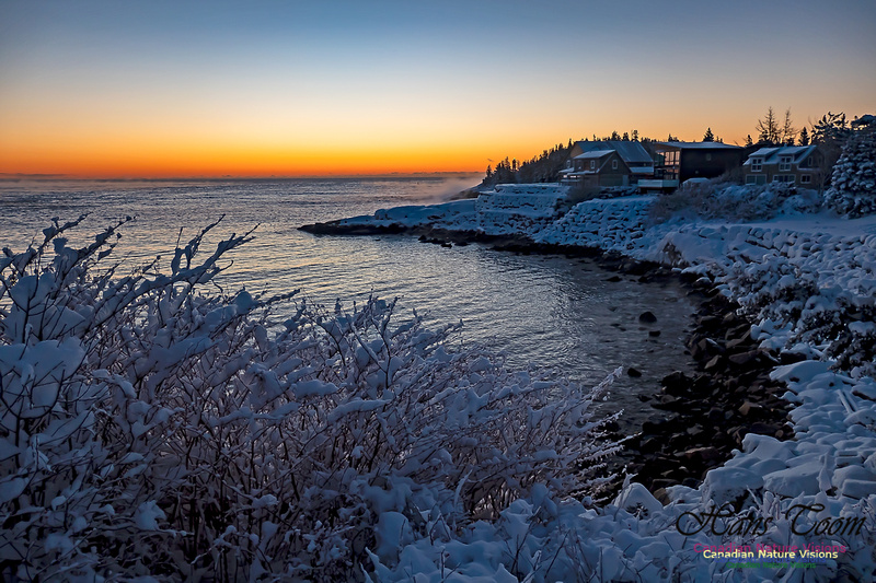 Sunrise and Snow at Herring Cove 110