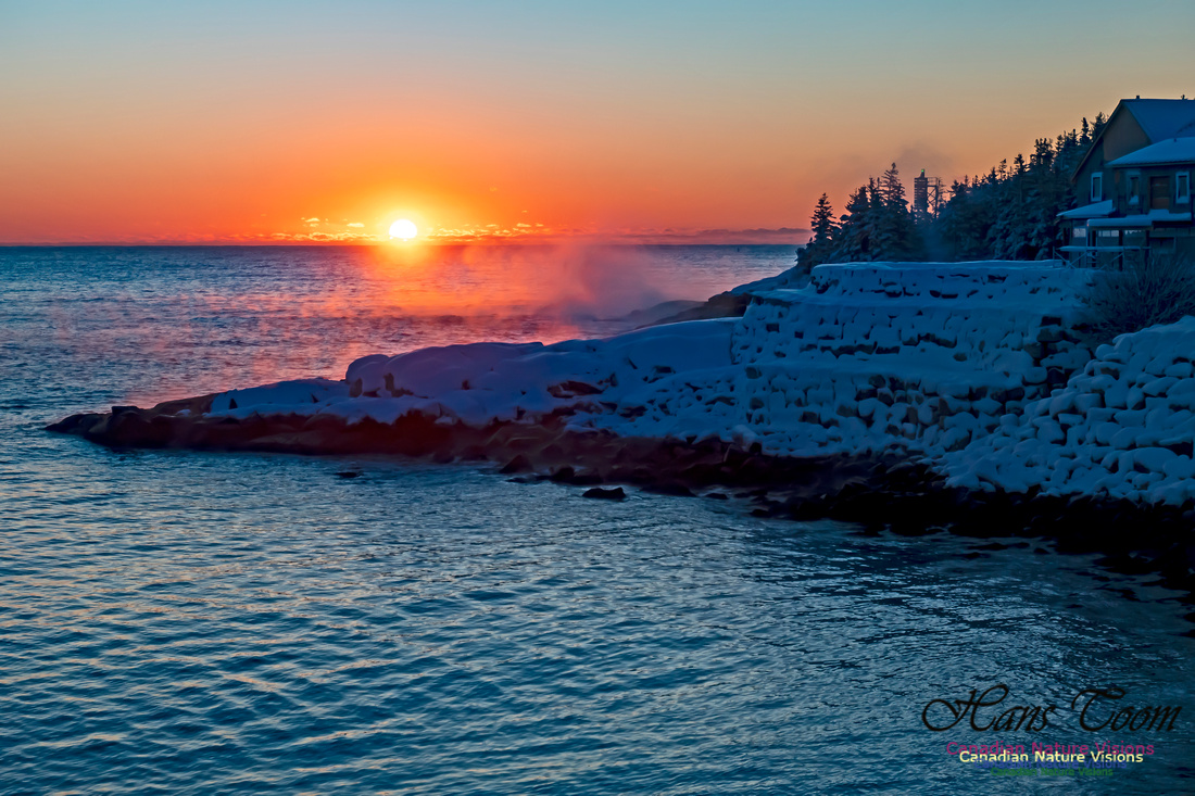Sunrise and Snow at Herring Cove 100