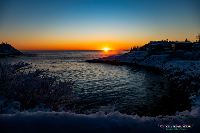 Sunrise and Snow at Herring Cove 102
