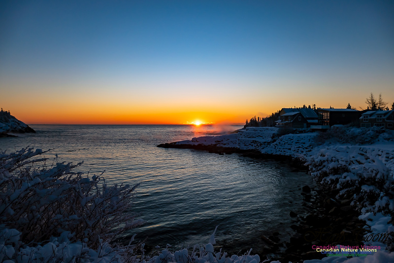 Sunrise and Snow at Herring Cove 104
