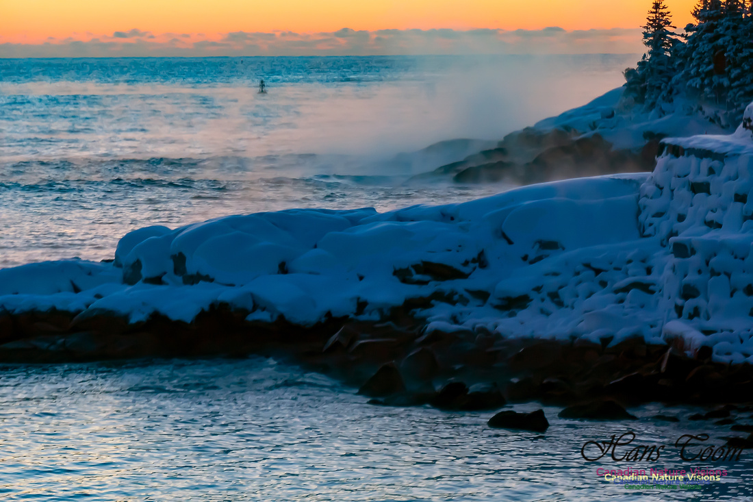 Sunrise and Snow at Herring Cove 107